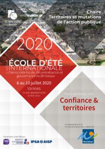 École d'été 2020 - Confiance et territoires